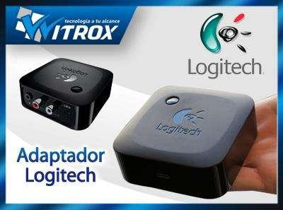 Adaptador receptor de audio bluetooth logitech para parlante o equipo de sonido, nuevos