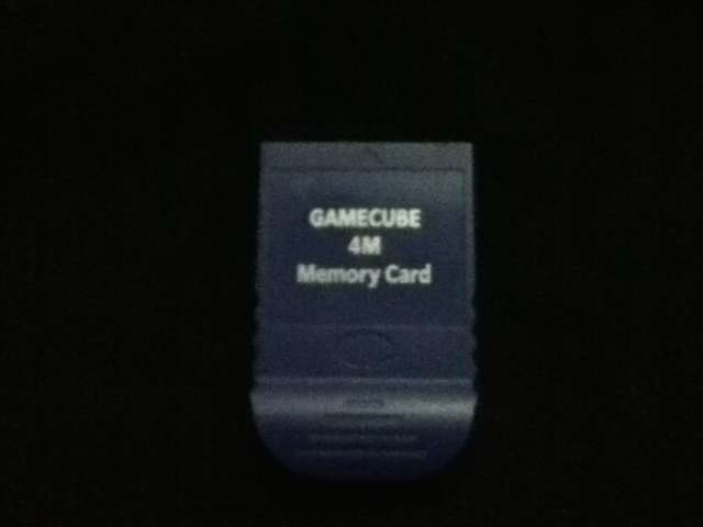Memoria card gamecube