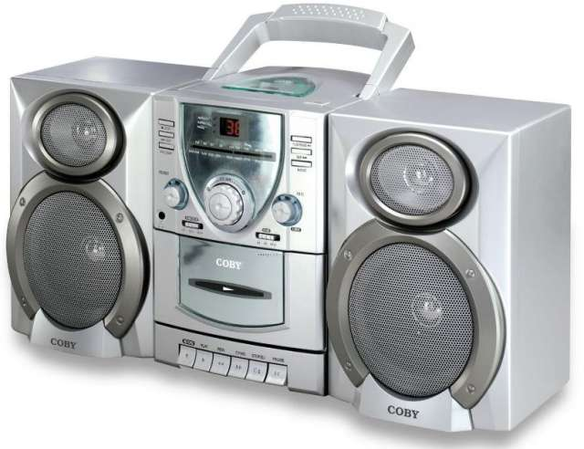Radio stereo cd/cassette player recorder