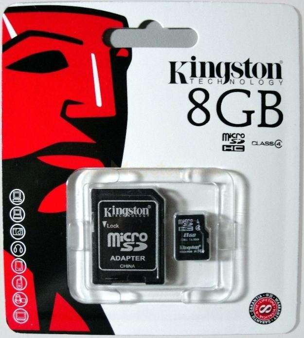 Sd micro 8gb hc kingston nuevo