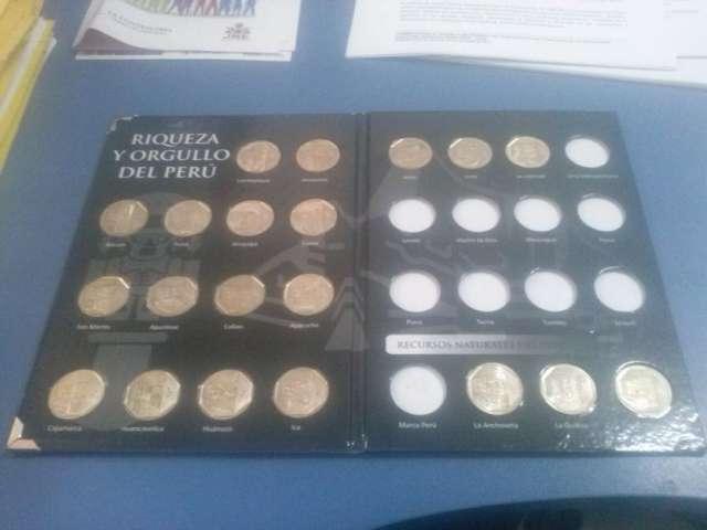 Album colección de monedas riquezas del peru