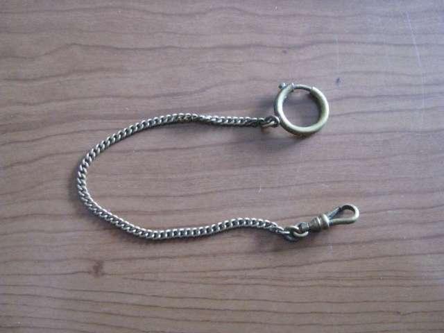 Antiguedades, coleccionables, cadena, reloj de bolsillo