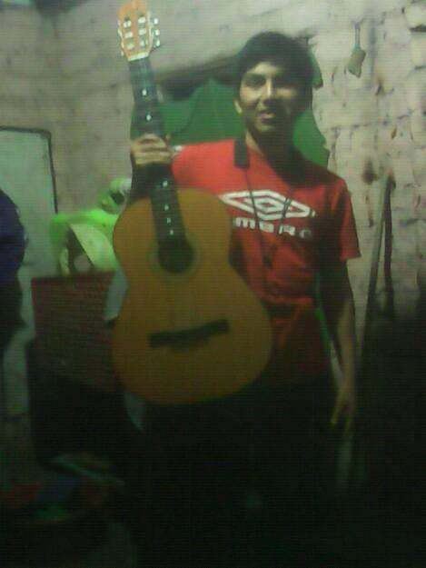 Se vende guitarra acustica con todo y musico