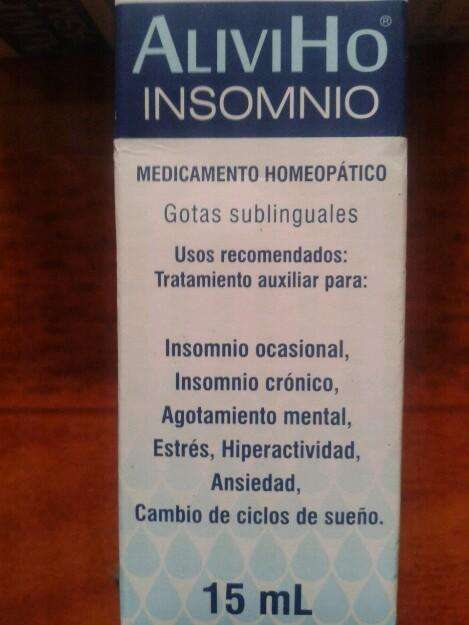 Alivhio insomnio producto homeopatico cubano