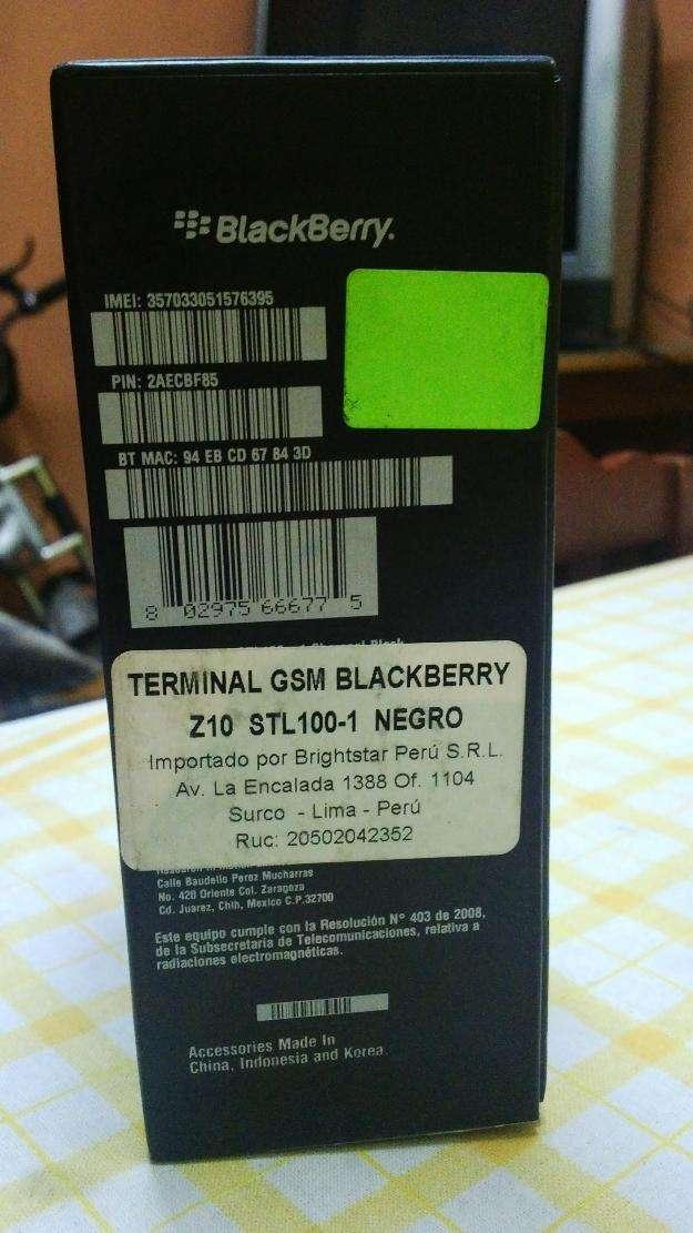 Blackberry z10 4g lte 16 gb libre operador