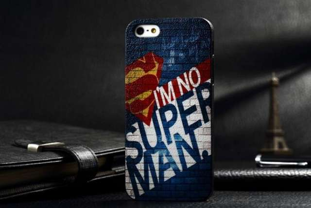 Case fashion style superman y white lines iphone 5 / 5s c/u