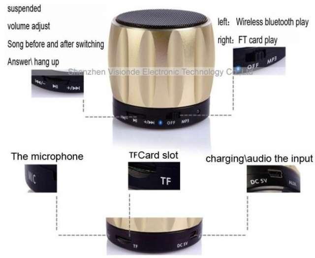 Mini altavoz bluetooth para celular, fm, parlante