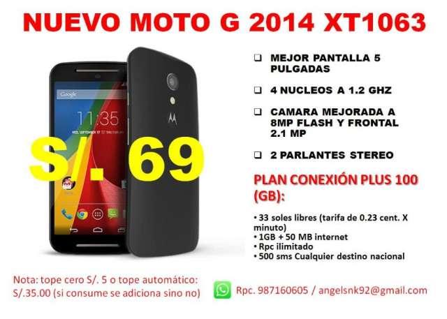 Nuevo motorola moto g version 2014 xt1063 postpago claro
