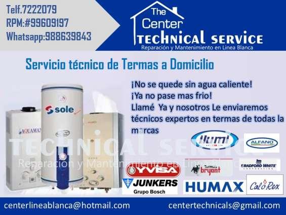 Servicio tecnico de termas brasec en lima