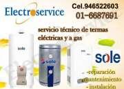 SERVICIO TECNICO REPARACION-DE TERMAS SOLE*