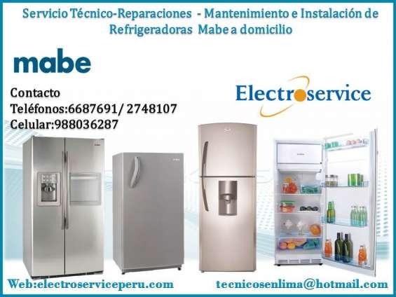 Servicio tecnico de refrigeradores mebe//surco//lima//