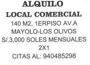 AlQUILO LOCAL COMERCIAL