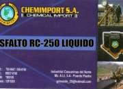 Venta de asfalto rc250 por cilindro