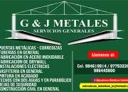 G&J METALES servicios generales