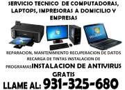 SERVICIO TECNICO  DE COMPUTADORAS, LAPTOPS, IMPRESORAS A DOMICILIO Y EMPRESAS