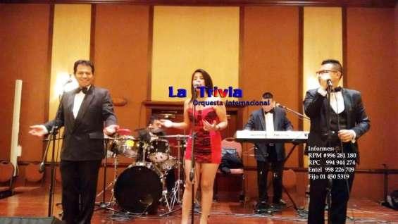 Orquesta cumpleaños matrimonios orquesta la trivia música variada en lima perú
