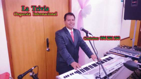 Show musical para fiestas matrimonios cumpleaños en vivo orquesta la trivia música variada