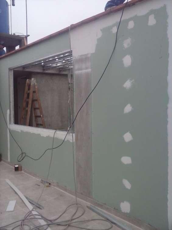 Muros con planchas rh