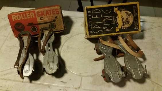 Patines de cuatro ruedas antiguas