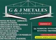 G&j metales servicios generales y mantenimiento a techos estructurales