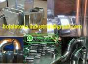 Ductos y campanas extractoras para aire acondicio…