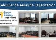 ALQUILER DE AULAS  DE CAPACITACIÓN