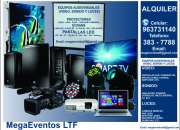 Alquiler de proyectores ecrans pantalla led video wall tv lcd sonido