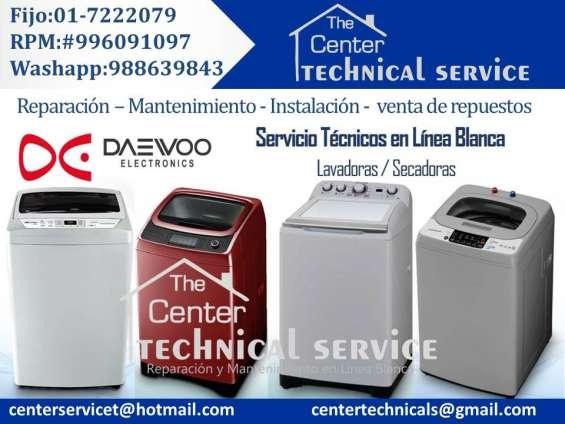 A domicilio? servicio tecnico de lavadoras daewoo ( reparacion garantizada) profesional