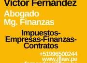 Abogado financiero ofrece servicios