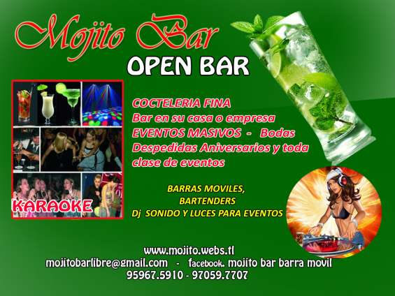 Open bar barras móviles