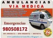 Ambulancias traslados lima y provincias