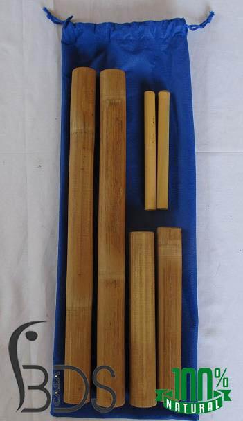 Cañas de bambú para masajes