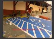 pintor de cercos para obras pintor de logotipos señalizaciones pintura en gral -
