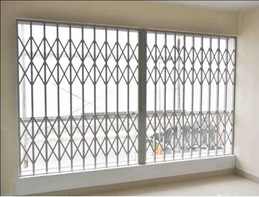 Rejas plegadizas/plegables 100% aluminio para ventanas y puertas