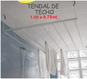 Tendal de ropa para techo 100% aluminio
