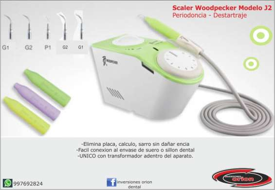 Scaler dental veterinario woodpecker j2