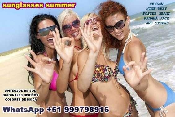Anteojos de verano y sol para damas diseños colores de moda