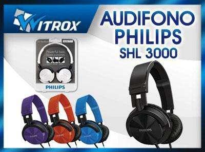 Audifonos philips dj shl3000 p/mp3, xperia, galaxy, iphone nuevos en caja