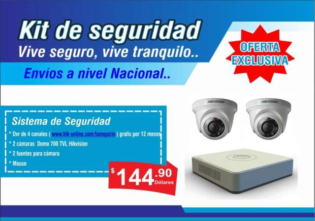 Kit de cámaras de seguridad x 2 | x 4 hikvision
