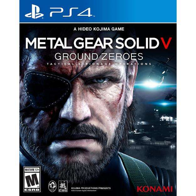 Playstation 4 ps4 metal gear solid v: ground zeroes