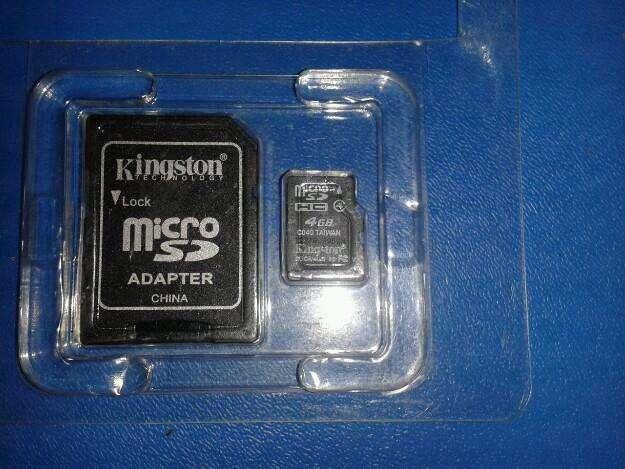 Micro memoria sd de 4 gb