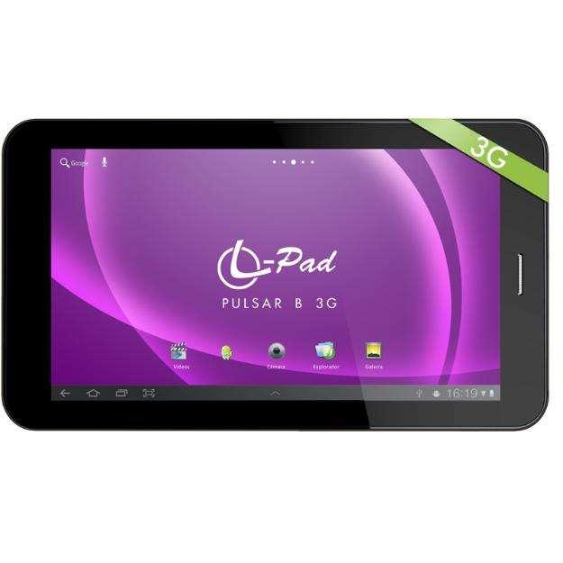 Tablet celular 7 3g, 2 chip, 2 camaras, gps, wifi, bluetooth, leotec letab714