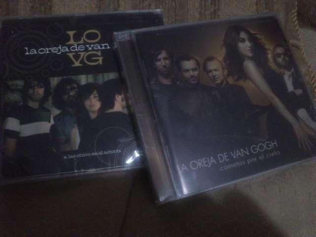 2 cds originales de la oreja de van gogh de remate a s./50.00