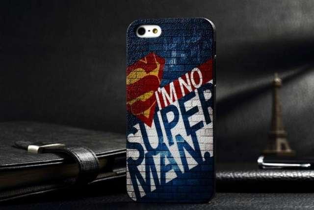 Case fashion style superman y white lines iphone 5 / 5s c/u