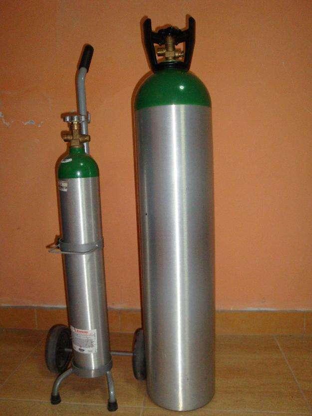 Cilindro de oxigeno medicinal de aluminio