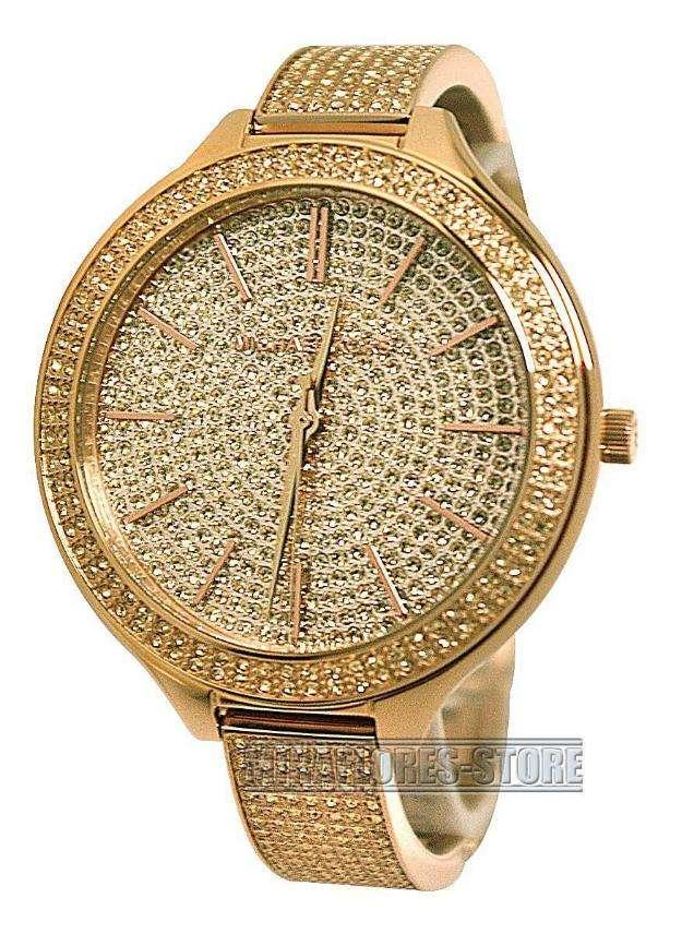 Reloj michael kors mk3251,dorado con brilantes de dama
