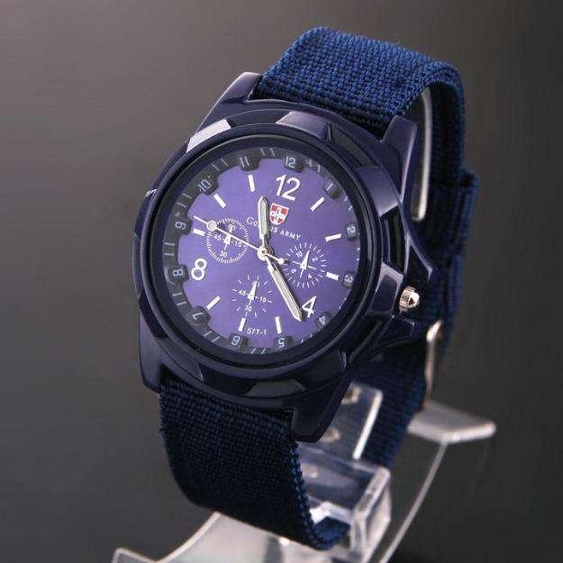Reloj moda urbana / elegante azul negro
