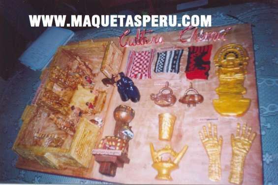 Maquetas culturas pre incas