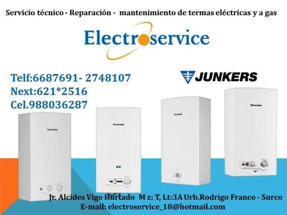 Servicio técnico de termas junkers e instalación