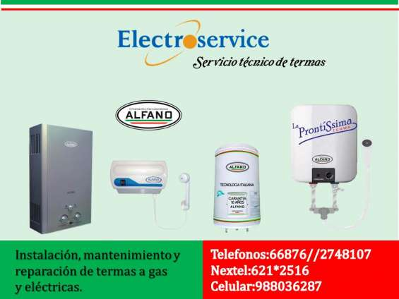 Servicio técnico termas alfano electroservice++988036287++